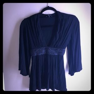 ¾ length shirt